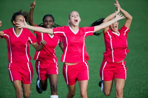 langage du corps victoire footballeuses