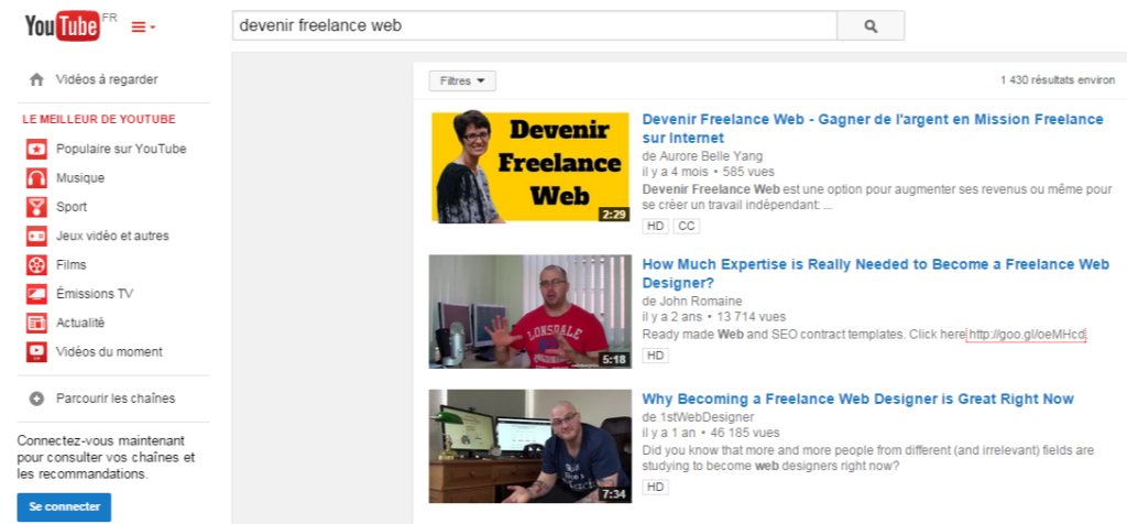 devenir freelance web - YouTube